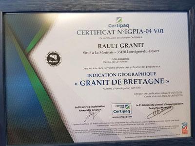 Remise certificat d'Indication Géographique