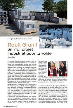 Retrouvez Rault Granit dans la revue Pierre Actual